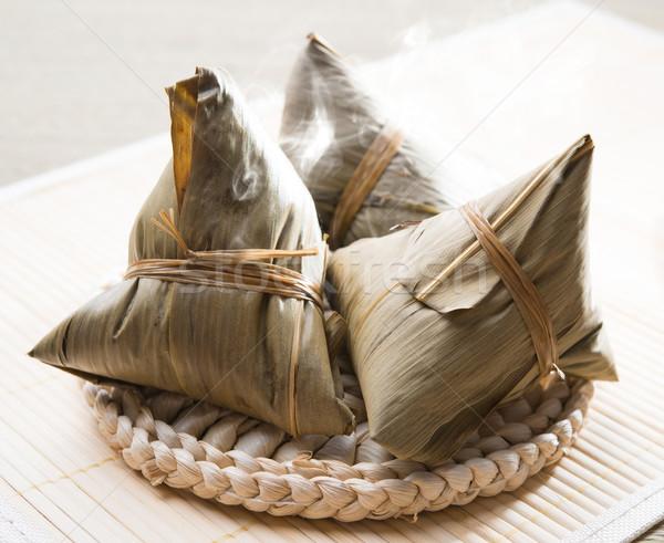 Stock fotó: ázsiai · rizs · kínai · hagyomány · étel · párolt