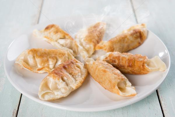 Asian maaltijd schaal vers plaat Stockfoto © szefei