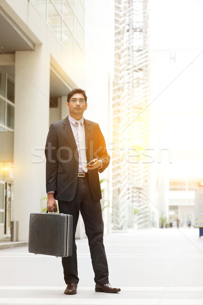 Asian Indian businessman full length Stock photo © szefei