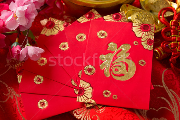 Chinese new year decorations Stock photo © szefei
