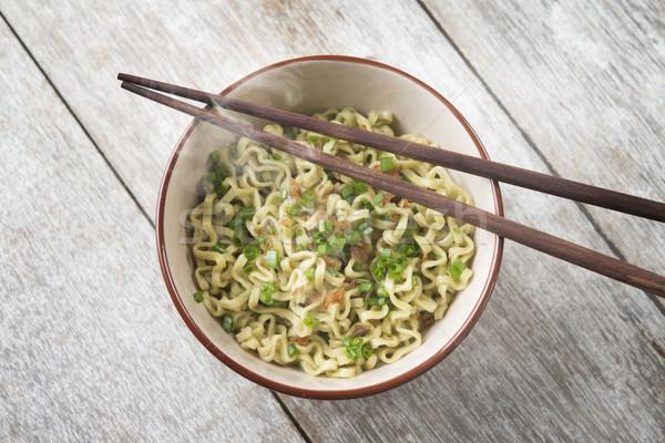 アジア ラーメン 麺 ボウル 先頭 ストックフォト © szefei