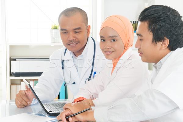 Stok fotoğraf: Tıbbi · takım · hastane · ofis · toplantı