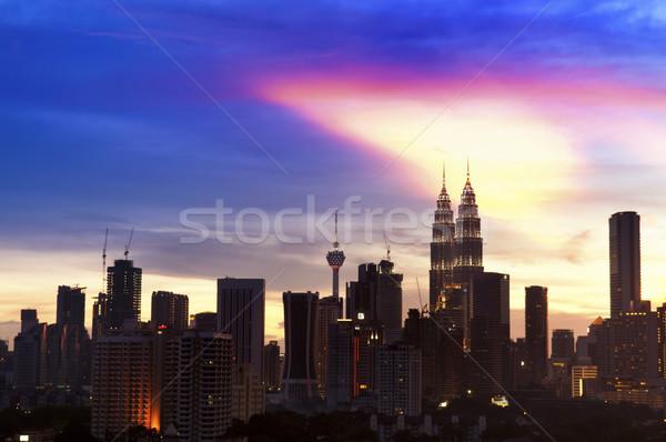 Куала-Лумпур город Малайзия закат мнение Сток-фото © szefei