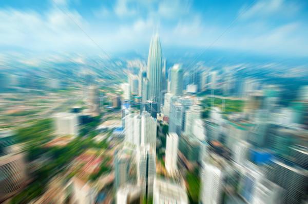 Yakınlaştırma Kuala Lumpur şehir Malezya mavi gökyüzü Stok fotoğraf © szefei