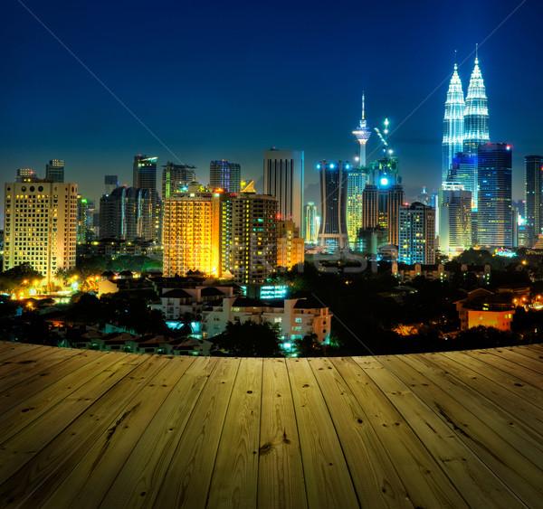 Куала-Лумпур Малайзия бизнеса небе Сток-фото © szefei