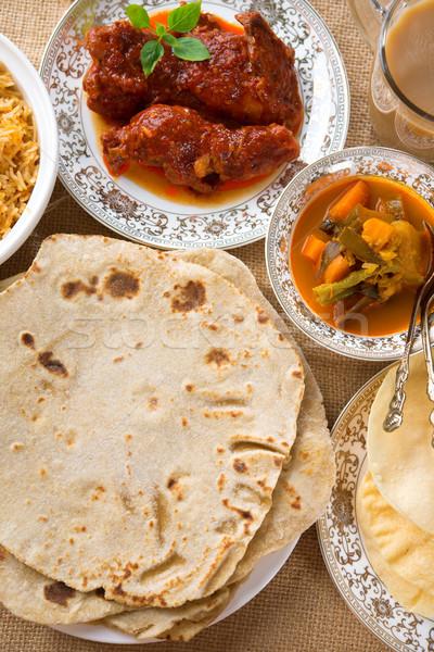 Indian dining Stock photo © szefei