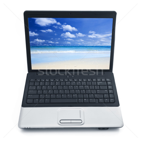 Summertime at notebook screen Stock photo © szefei