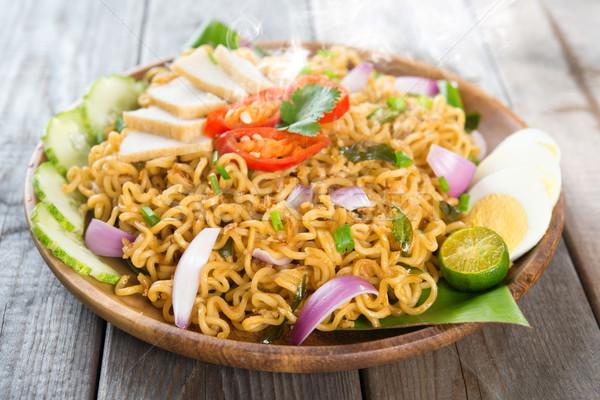 Malaysian cuisine maggi goreng mamak  Stock photo © szefei