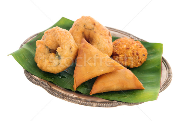 Traditional Indian snack starter Stock photo © szefei