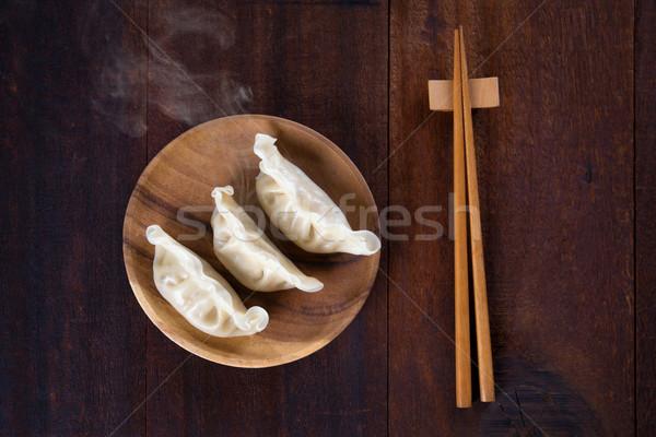 Asian food dumplings Stock photo © szefei