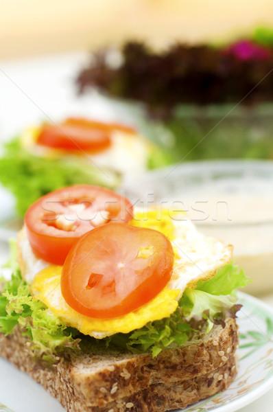 здорового сэндвич органический домашний Салат завтрак Сток-фото © szefei