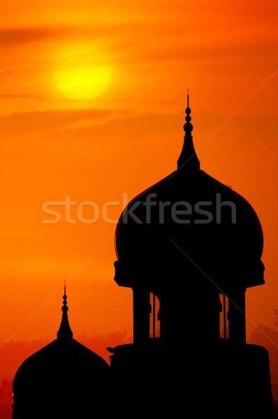 Silhouette of a mosque. Stock photo © szefei