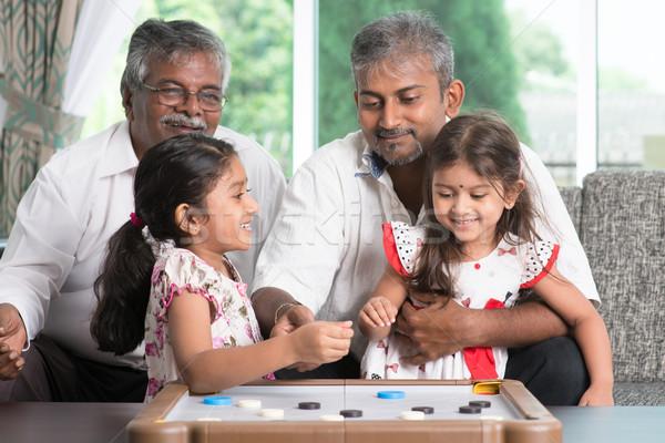 Photo stock: Générations · famille · jouer · jeux · ensemble · heureux