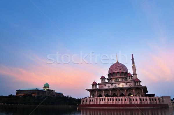 мечети Малайзия здании небе закат дизайна Сток-фото © szefei