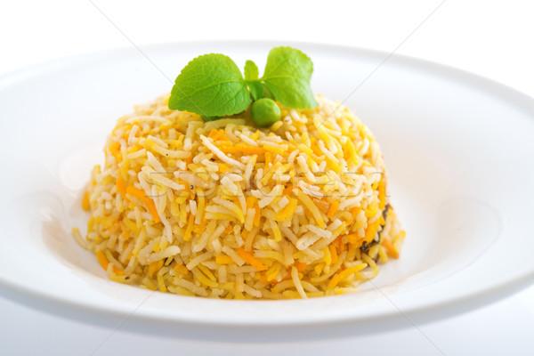 Indian plain biryani rice  Stock photo © szefei