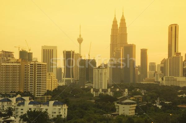 Kuala Lumpur şehir akşam karanlığı Malezya iş ofis Stok fotoğraf © szefei