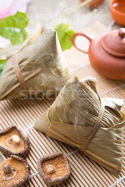 Chinese festive food rice dumpling Stock photo © szefei