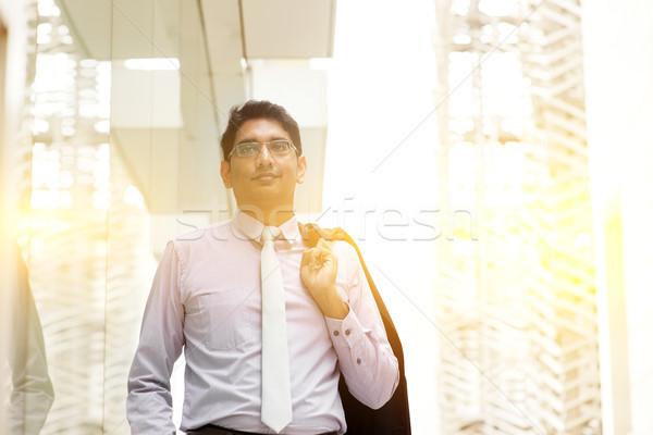 Asian Indian business people walking Stock photo © szefei