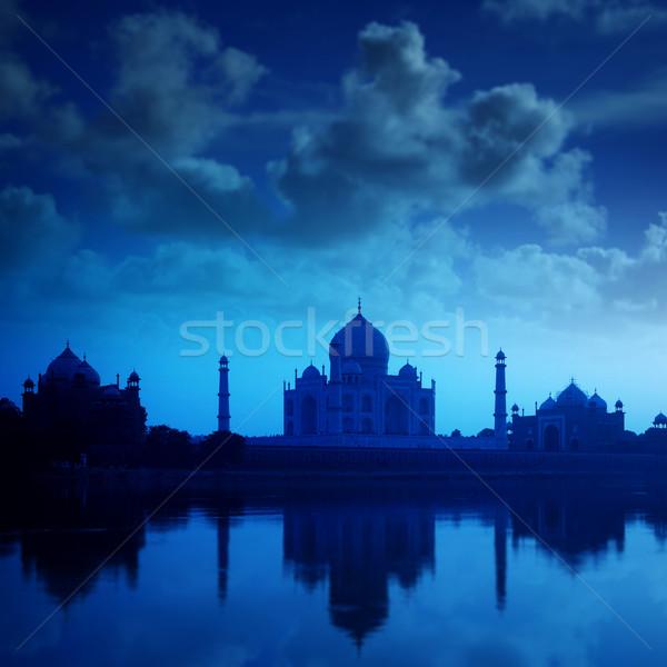 Taj Mahal India notte cielo acqua amore Foto d'archivio © szefei