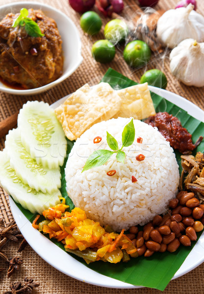 Nasi lemak  Stock photo © szefei