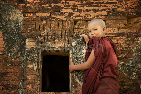 Buddhist novice monk Stock photo © szefei