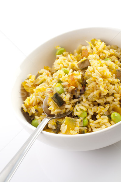 Pumpkin fried rice Stock photo © szefei