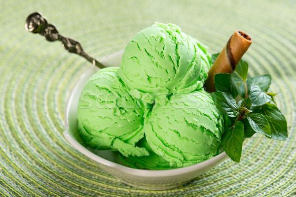 De sorvete pronto mesa de jantar textura fundo Foto stock © szefei