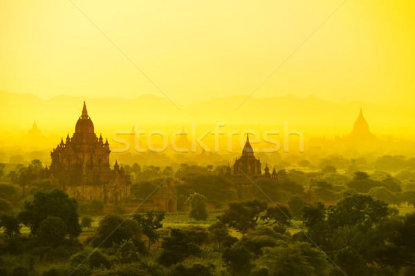 Мьянма Восход закат пейзаж путешествия Азии Сток-фото © szefei