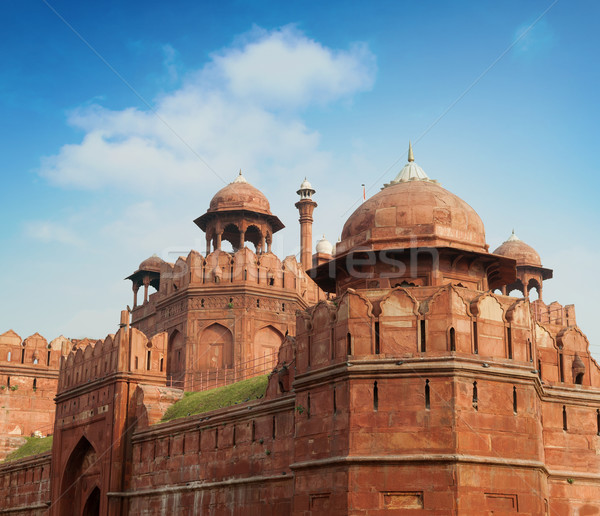 The Red Fort outside view Stock photo © szefei