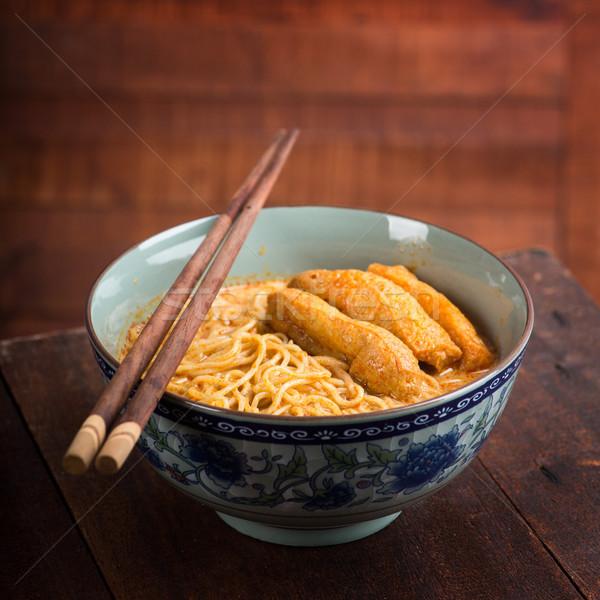 Caliente picante curry sopa Foto stock © szefei