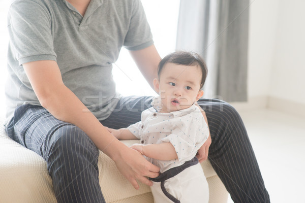 Father babysit child. Stock photo © szefei
