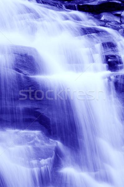 Waterval tropische bos water voorjaar tuin Stockfoto © szefei