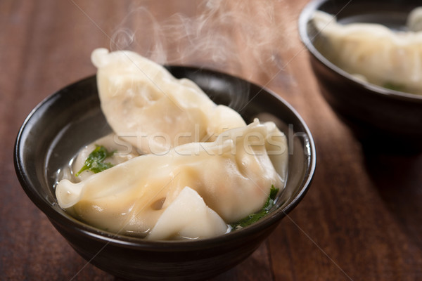 Asian cuisine dumplings soup  Stock photo © szefei