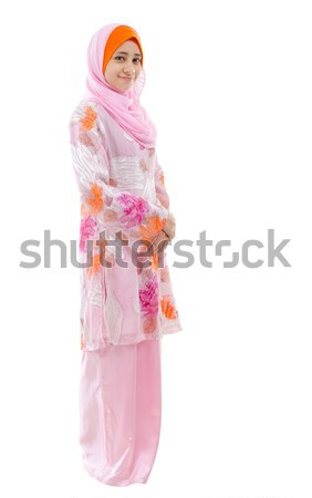 Full body Southeast Asian Muslim girl  Stock photo © szefei