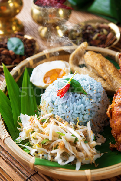 Malay rice dish nasi kerabu Stock photo © szefei