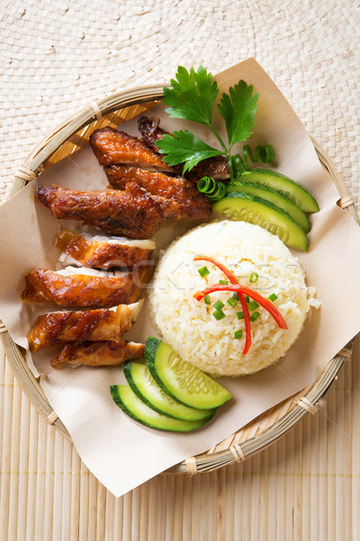 Asian chicken rice.  Stock photo © szefei