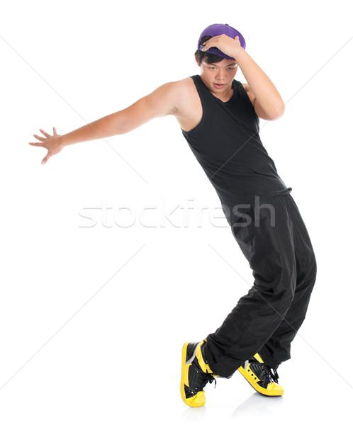 Asya gençlik hip hop dansçı serin Stok fotoğraf © szefei