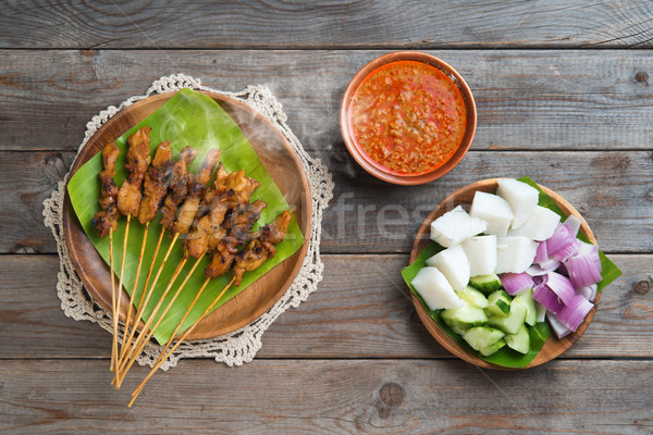 Satay Stock photo © szefei