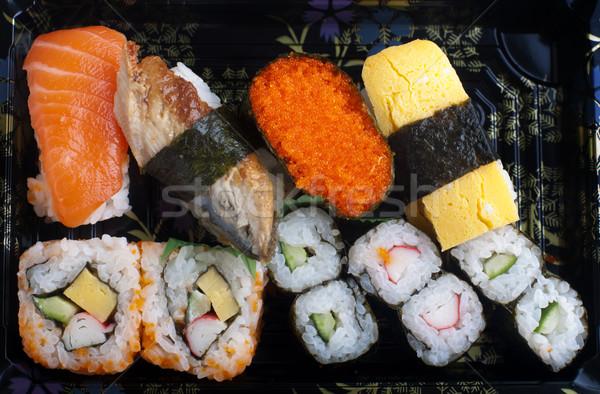 Sushis traditionnel japonais cuisine plaque Photo stock © szefei