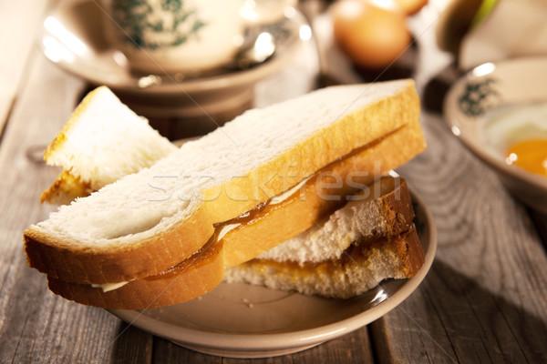 Traditional oriental Nanyang coffee and breakfast Stock photo © szefei