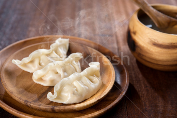 Delicious Chinese Meal Dumplings Stock photo © szefei