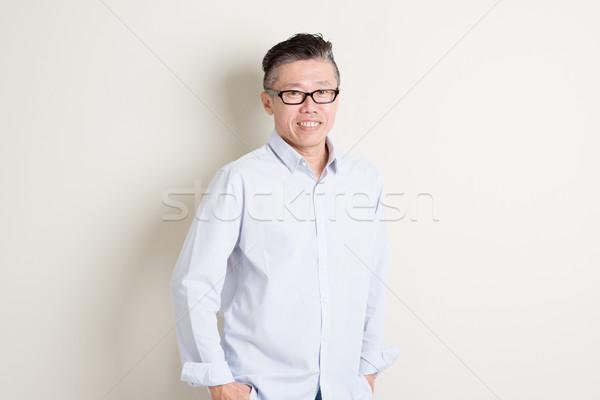 Stockfoto: Portret · volwassen · asian · mannelijke · mensen · 50s