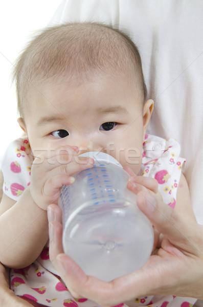 Feeding water to baby Stock photo © szefei