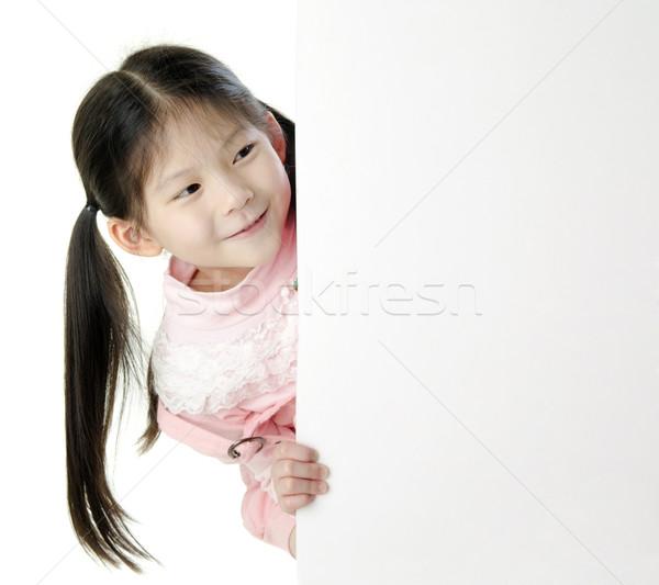Foto stock: Ninos · mensaje · jóvenes · Asia · nina