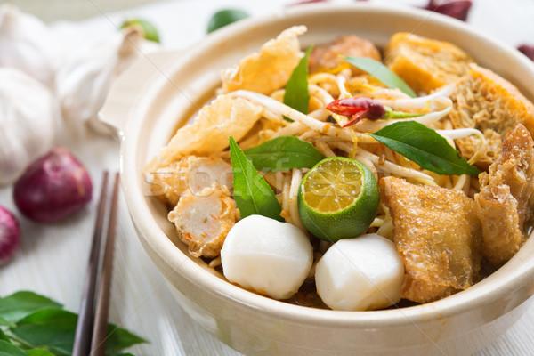 ホット 辛い シンガポール カレー ヌードル 人気のある ストックフォト © szefei