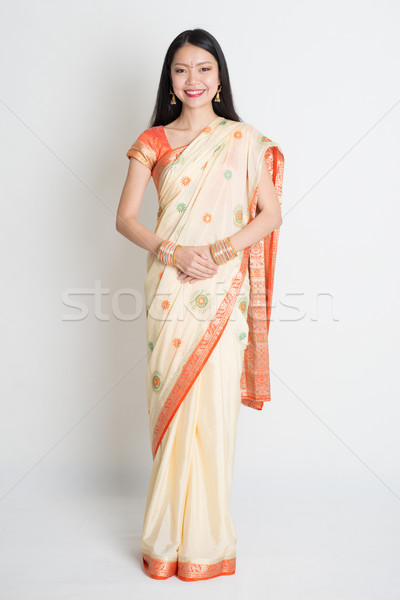 Asian Indian girl smiling  Stock photo © szefei