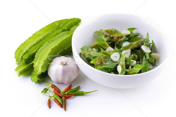 Keverés sült bab fehér étel növény Stock fotó © szefei