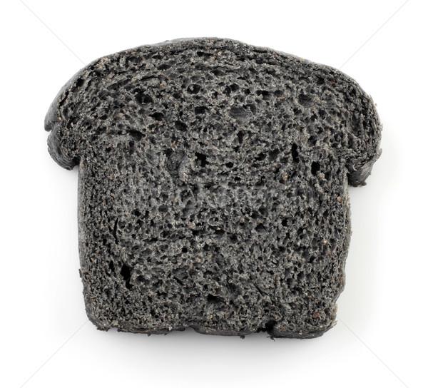 Black charcoal bread Stock photo © szefei