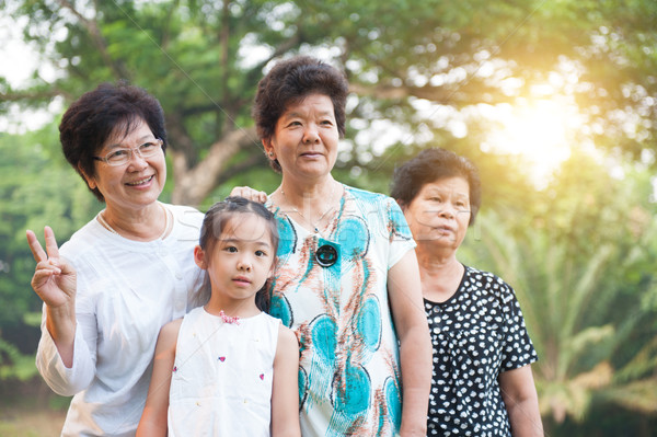бабушки внук Открытый портрет красивой Сток-фото © szefei