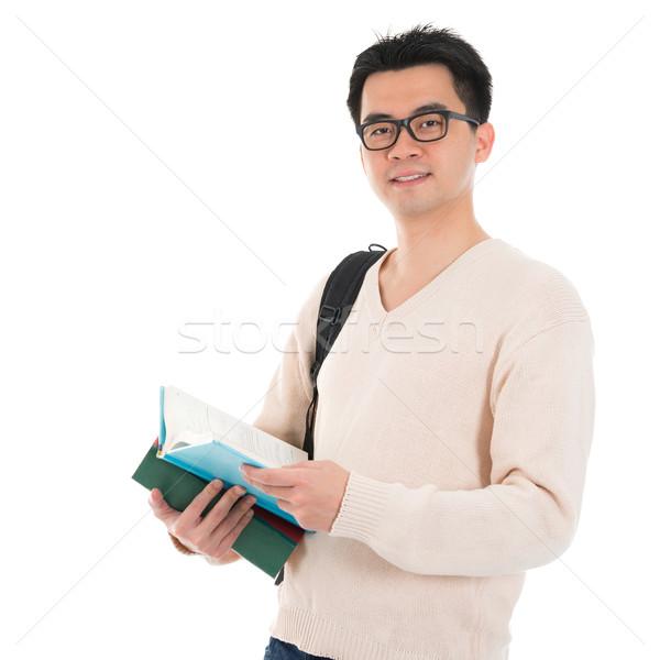 Asia adulto estudiante libros masculina casual Foto stock © szefei